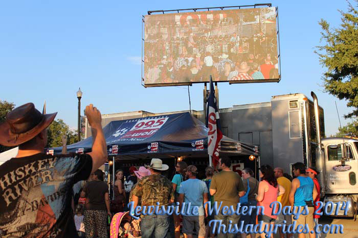 99.5, Lewisville Western days 2014, Thompson Square, Kevin Fowler Concert,  this lady rides