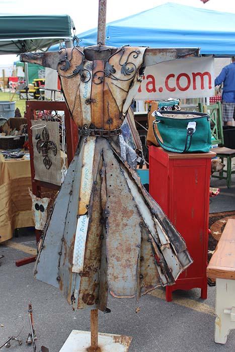 scrap metal dress