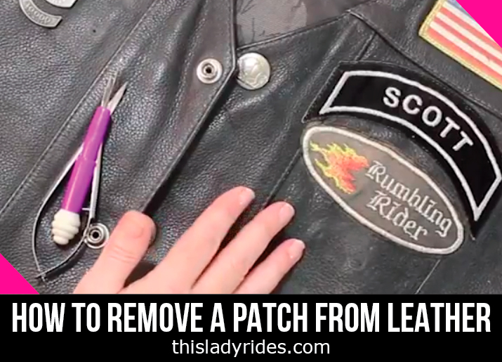 How to remove a patch from leather without damaging the leather.