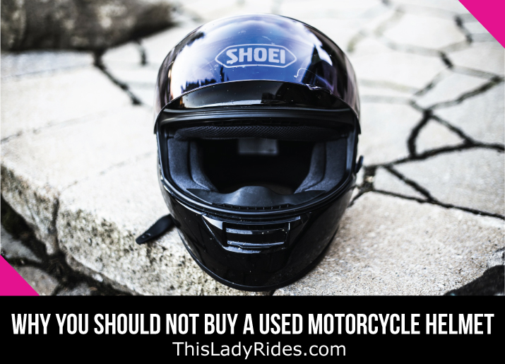 Find out why you should never buy a used motorcycle helmet