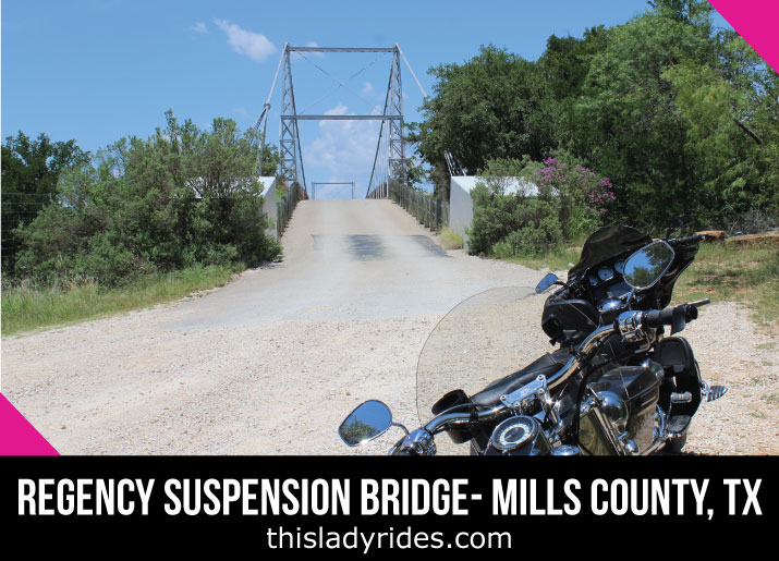 Regency Bridge The Last Suspension Bridge Open To Traffic In Texas